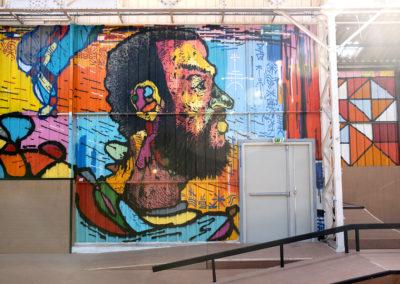 Skatepark avec ambiance Street-art à Alès en Cévennes