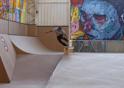 Un skatepark entièrement en bois pour une qualité de glisse au top