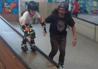 stage de roller, trottinette et skate