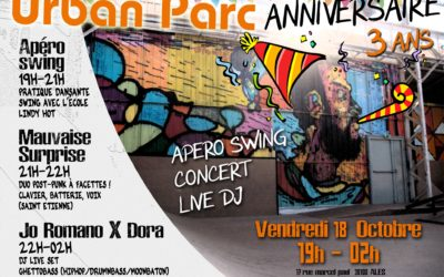 Vendredi 18 octobre : L'anniversaire d'Urban Parc