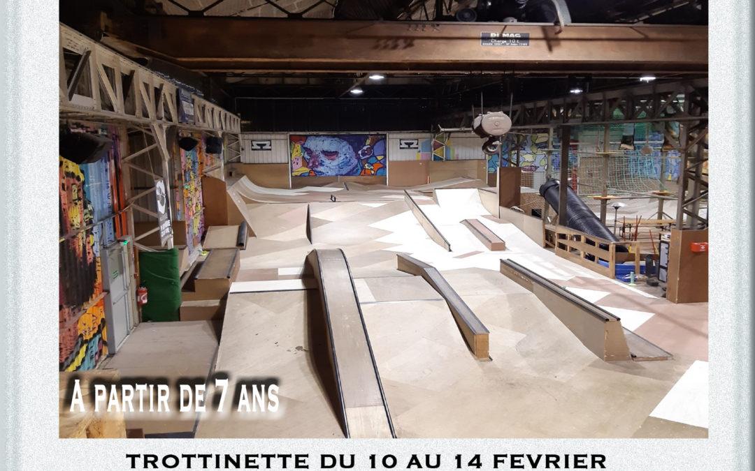 Stage vacances février (trottinette, skate, roller)
