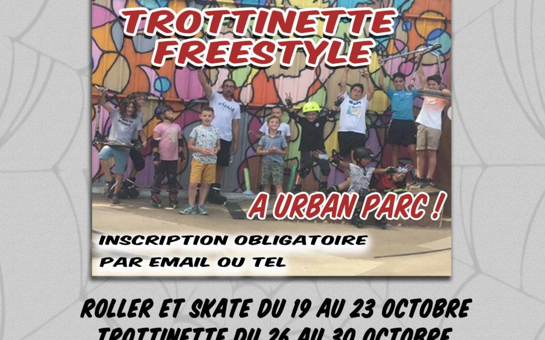Stage vacances Toussaint (trottinette, skate, roller)