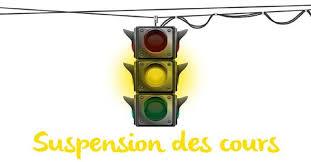 Cours et stages suspendus :(