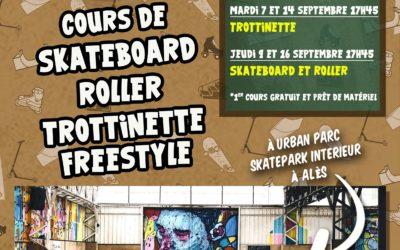 Inscriptions cours de trottinette / skate / roller